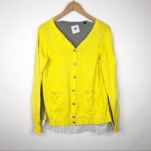 Cabi #3010 Love Carol Yellow Gray Belle Cardigan